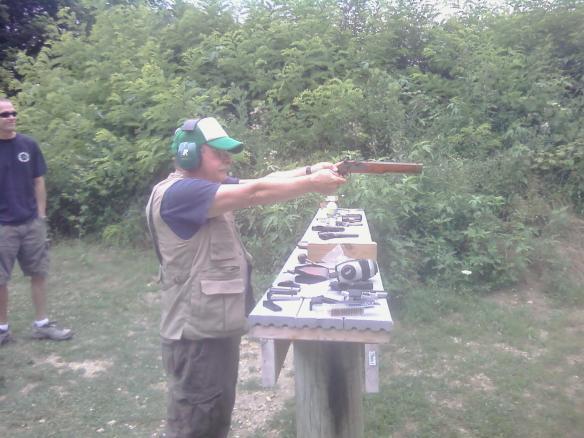 Devoted Spouse shooting black powder gun