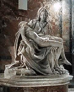 Michelangelo's Pieta which I was fortunate to see in person